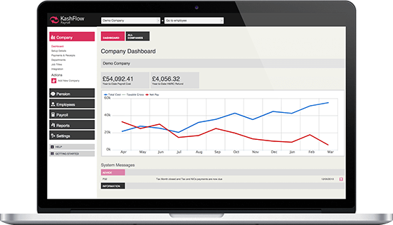 Simple Payroll Software - HMRC Recognised Payroll from Kashflow