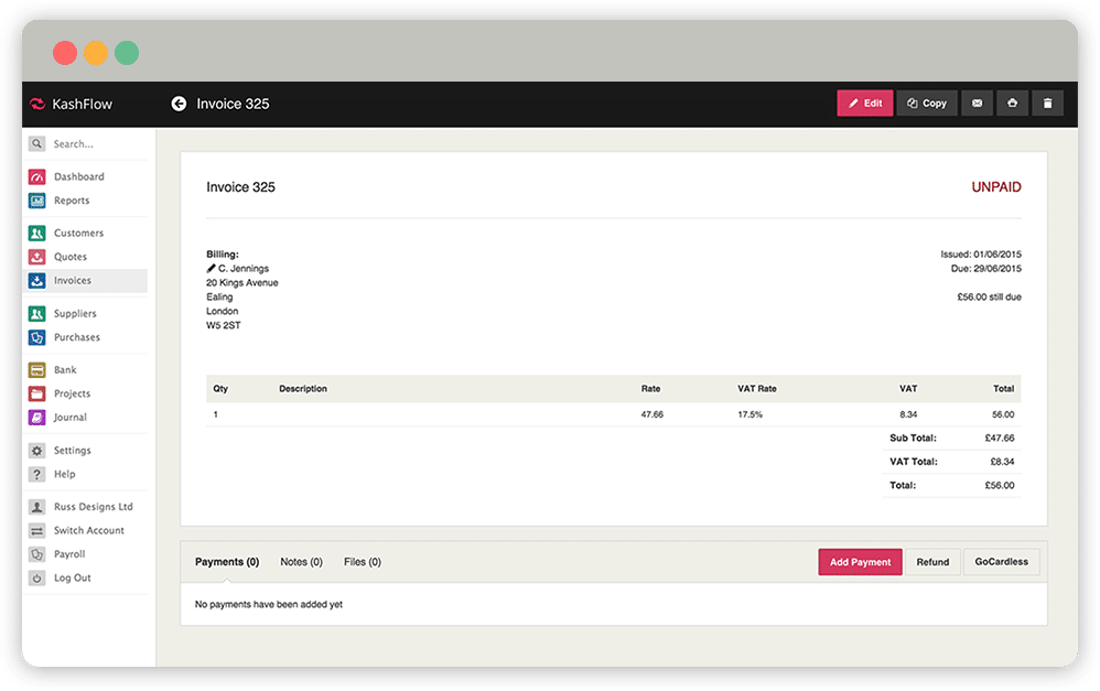 invoice-screen