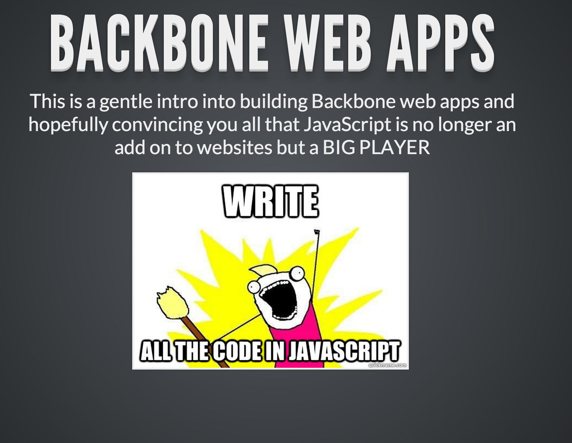 Backbone js presentation