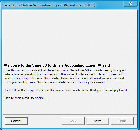 Running the Export Wizard 1