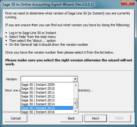 Running the Export Wizard 2
