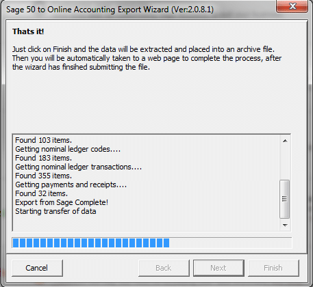Running the Export Wizard 4