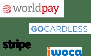 Payment logos.