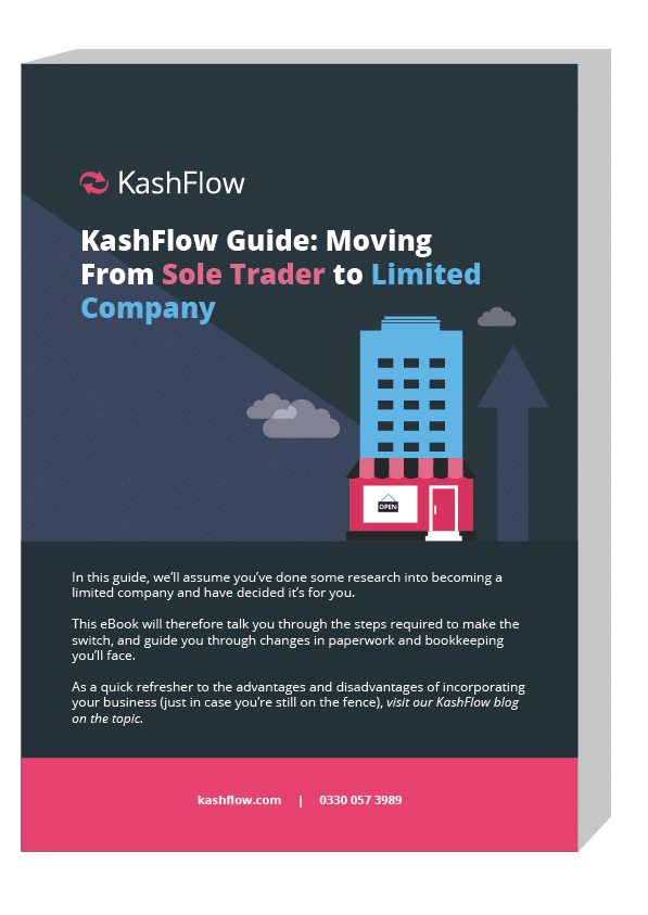 KashFlow Guide - Moving from Sole Trader to Limited Company.