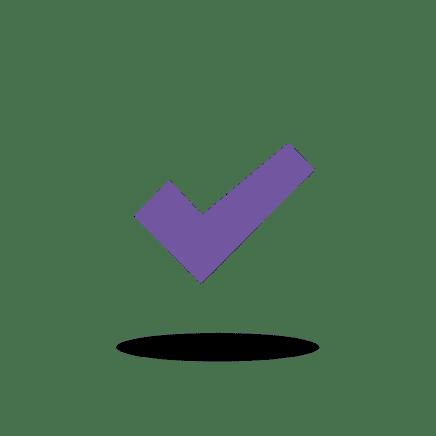 Purple tick.