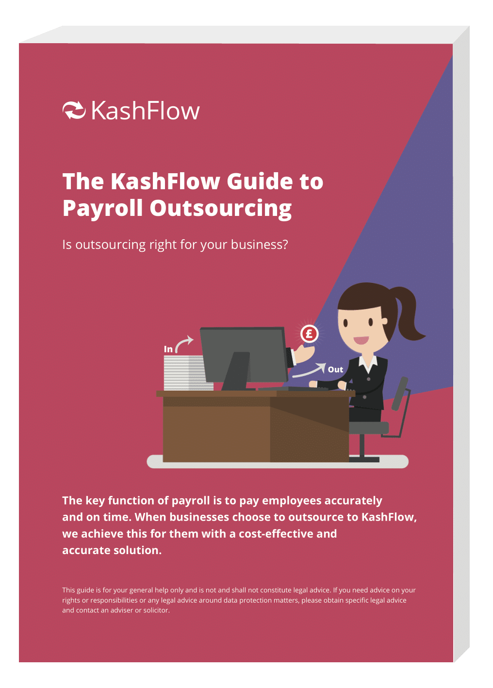 Front cover of KashFlow's Guide to Payroll Outsourcing