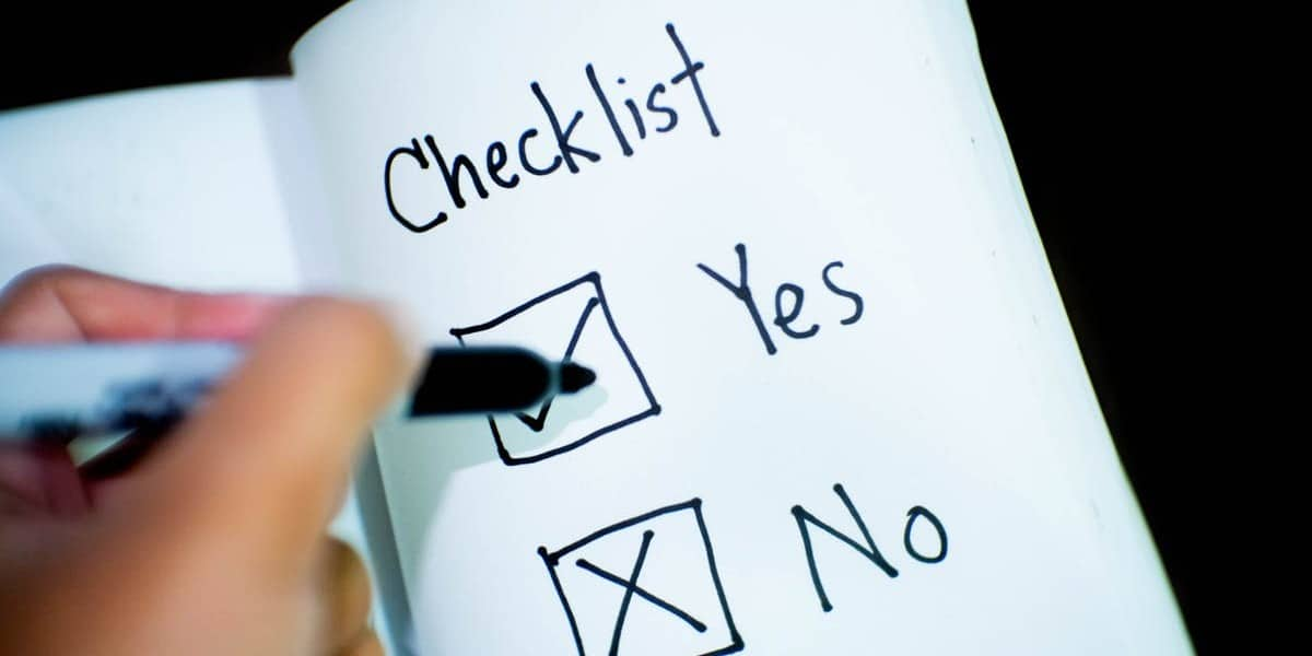 self assessment checklist