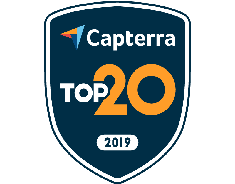Capterra Top 20 2019 Badge