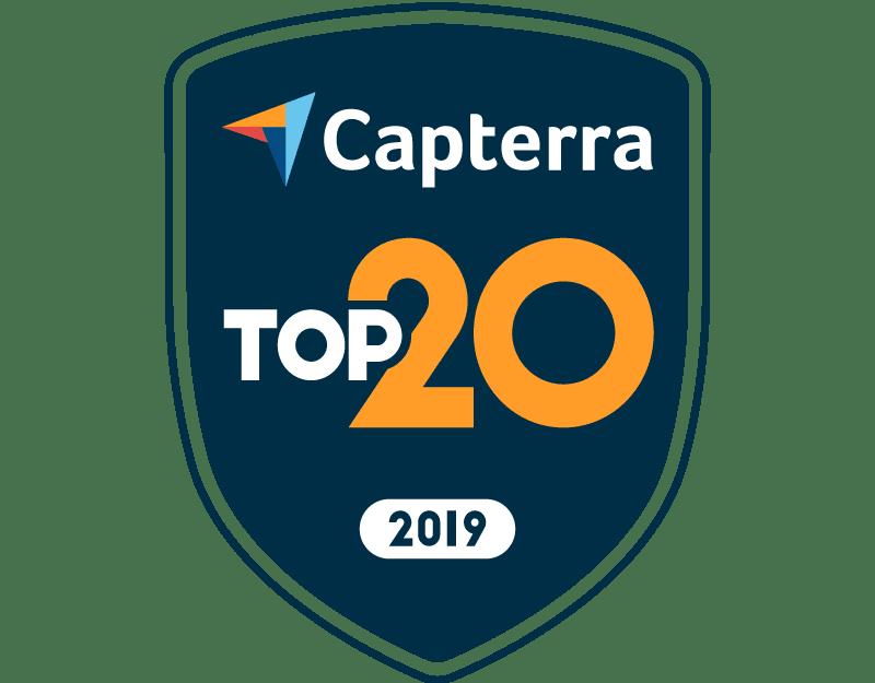 Capterra Top 20 2019 Badge